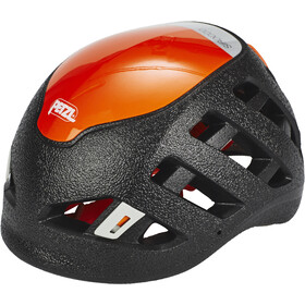 Petzl Sirocco Casco de escalada, black/orange